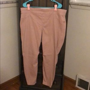 NWOT pink jeggings size 2x